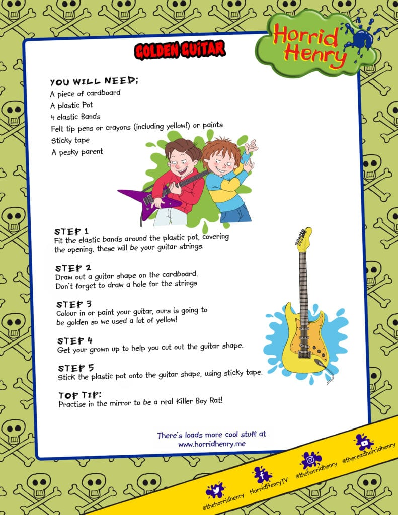 Horrid Henry make your own guitar