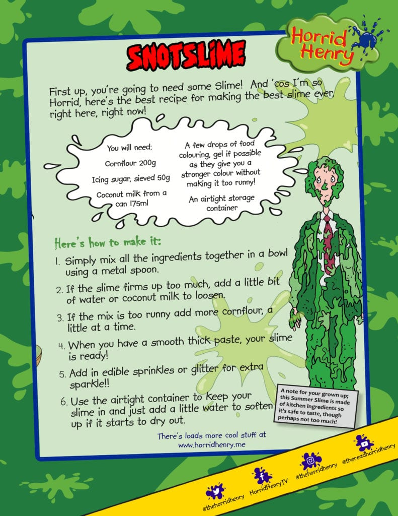 Horrid Henry make your own slime