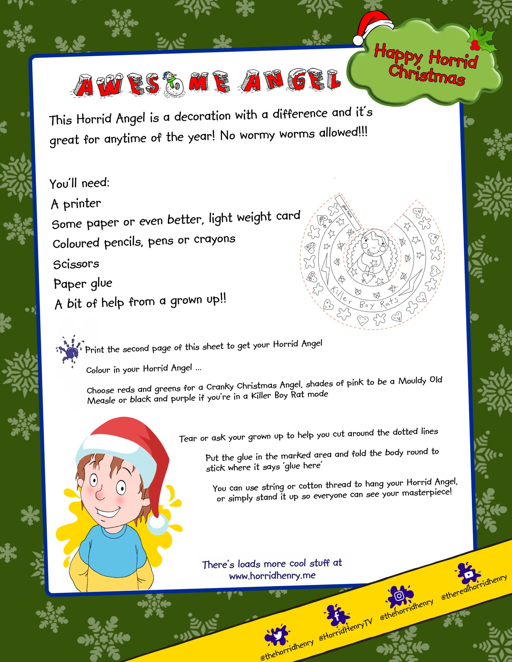 Awesome Angel Horrid Henry Activity