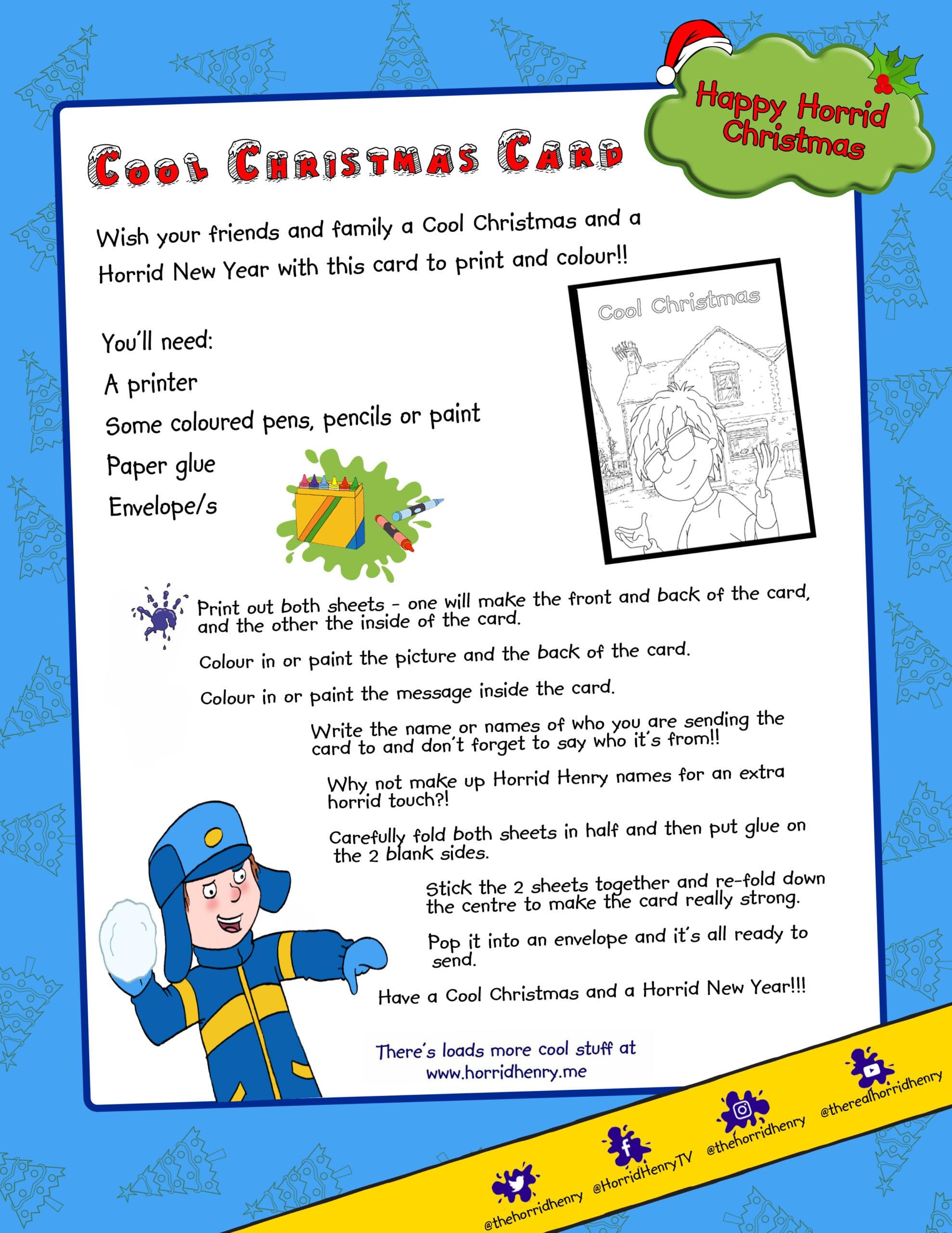 Horrid Henry Christmas Card